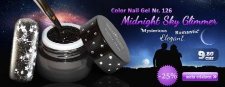 Color Nail Gel No. 126 Midnight Sky Glimmer