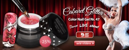 Color Nail Gel Nr. 47 Cabaret Glitter