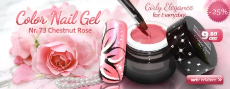Color Nail Gel Nr. 73 Chestnut Rose