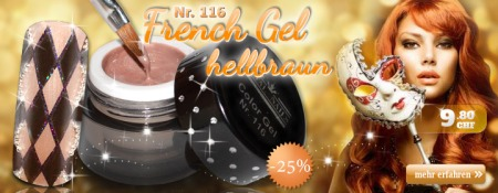 25% Rabatt auf Royal Nails French Gel hellbraun Nr. 116