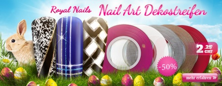 50% Rabatt auf Royal Nails Nail-Art Dekostreifen