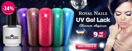 -34% RoyalNails UV Gel-Lack, Permanent Nagellack Glimmer Elegance