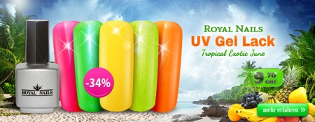 -34% RoyalNails UV Gel-Lack, Permanent Nagellack Neon