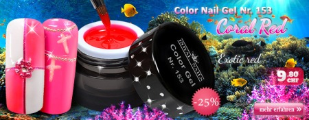 25% Rabatt auf Royal Nails Color Nail Gel Nr. 153 Coral Red