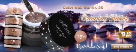 25% Rabatt auf Royal Nails Color Nail Gel Nr. 56 Oriental Glitter
