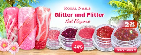 44% Rabatt auf Royal Nails Nail-Art Glitter Red