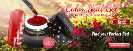 25% Rabatt auf Royal Nails Color Nail Gel Nr. 15 Japanese Maple