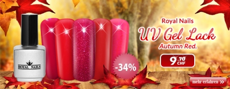 "34% auf RoyalNails UV Gel-Lack, Permanent Nagellack ""Autumn Red"""