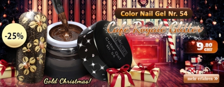 25% Rabatt auf Color Nail Gel Nr. 54 Cafe Royale Glitter