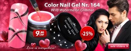 25% Rabatt auf Color Nail Gel Nr. 164 Wild Watermelon Glimmer