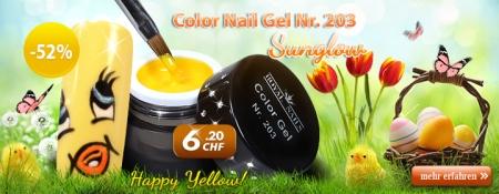 52% Rabatt auf Color Nail Gel Nr. 203 Sunglow