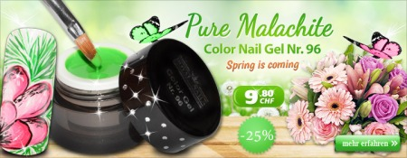 25% Rabatt auf Color Nail Gel Nr. 96 Pure Malachite