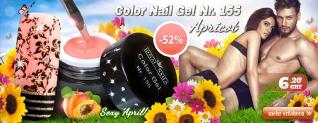 52% Rabatt auf Color Nail Gel Nr. 155 Apricot