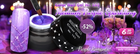 52% Rabatt auf Color Nail Gel Nr. 163 Medium Purple Sparkling