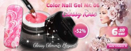 52% Rabatt auf Color Nail Gel Nr. 06 Glossy Rose