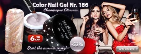 52% Rabatt auf Color Nail Gel Nr. 186 Champagne Glimmer