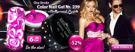 52% Rabatt auf One Stroke Color Nail Gel Nr. 239 Hollywood Purple